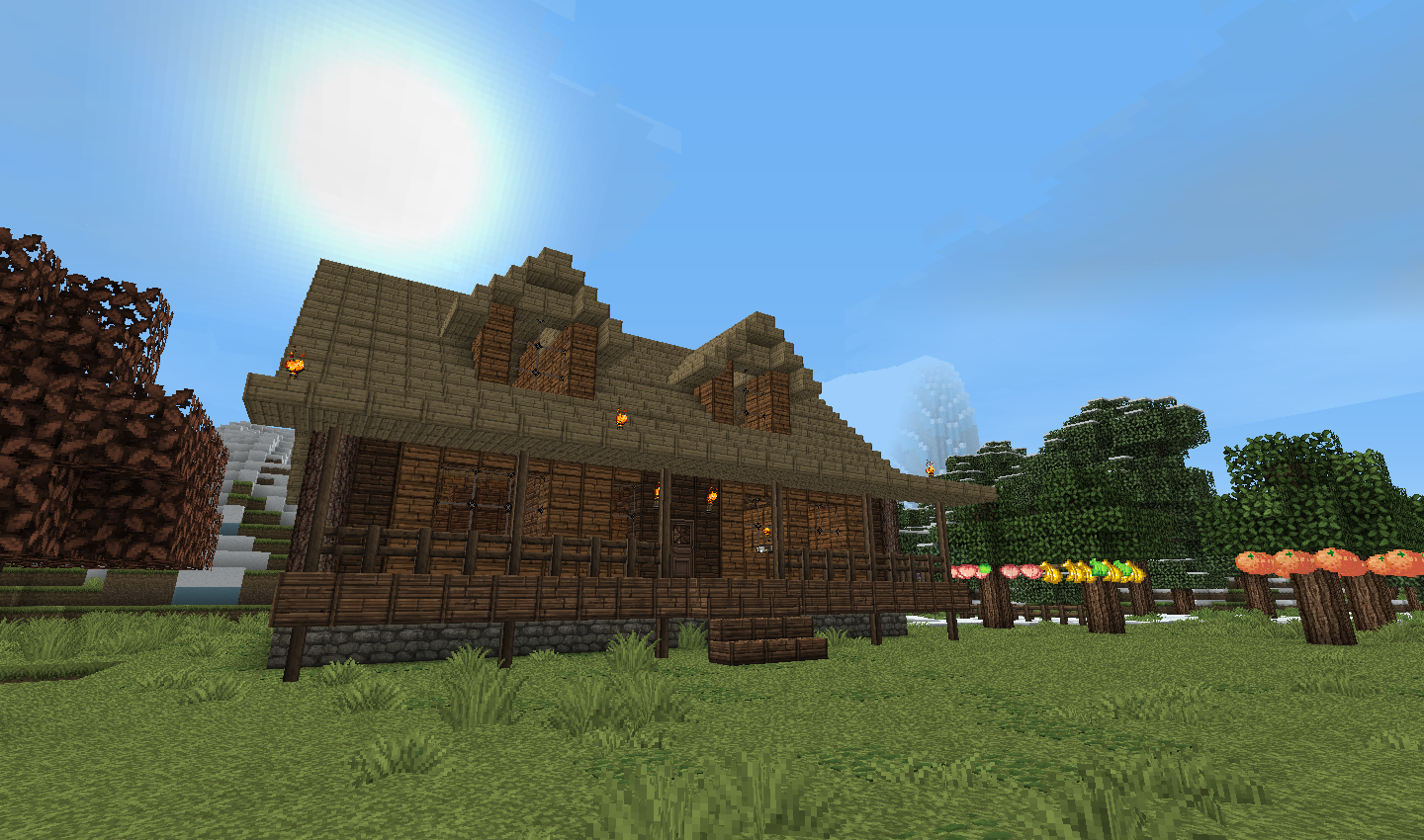 Business at the ranch mine build eat repeat for How to build a ranch house