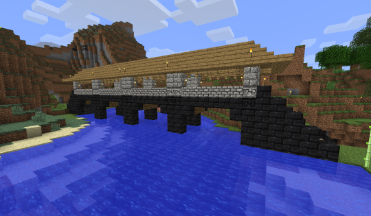 A new bridge showcasing Geostrata blocks.
