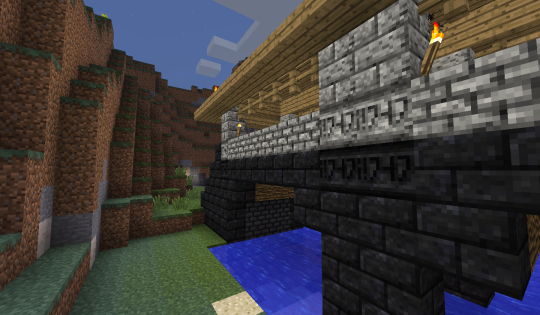 A closer shot of all six kinds of stone texture used on the bridge.