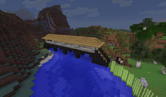 Night falling on my new bridge.
