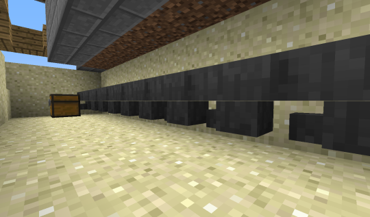 Now for the improvements over the mark I. Two blocks below the dirt blocks on which sit the sugar cane, place a connected line of hoppers leading into a chest or item transport system.