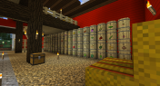 I'm using the barn as a storage area for my Pam's Harvestcraft crops. Those barrels are from Simple Barrels. Rabbit pen in the far background.
