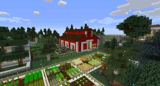 A traditional looking red barn using Better Agriculture.