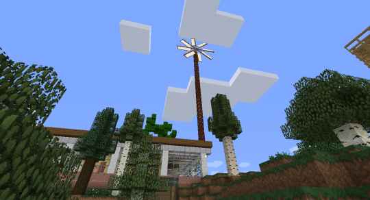 This was the first setting for my Immersive Engineering wind turbine. It's too simple. Too utilitarian.