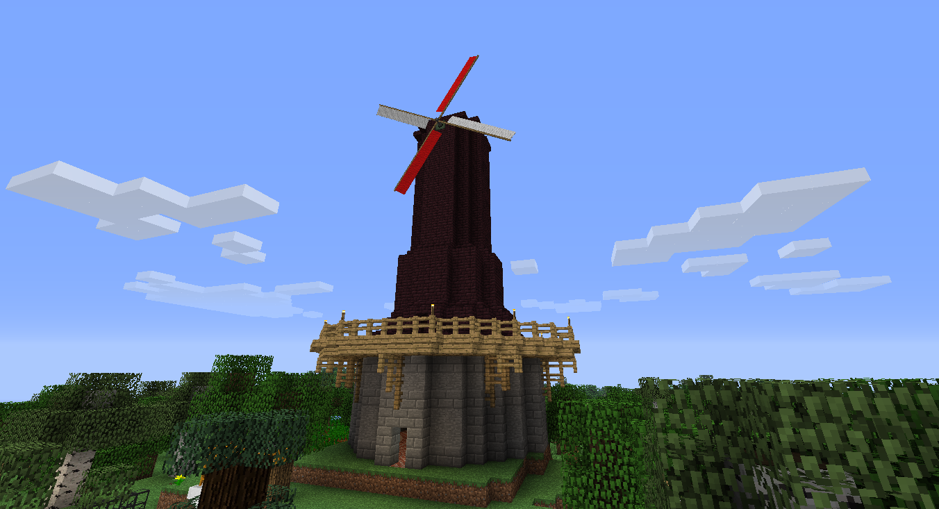 how to build a modded windturbine minecraft