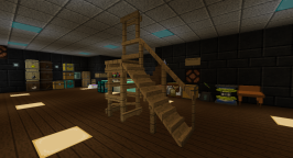 This is the kind of structure you can make using Platforms. This is all oak planks. And, yes, that's a ramp with a hand rail.