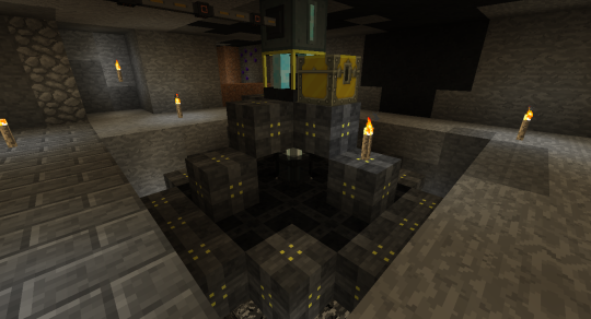 This is a Void Ore Miner (tier 1). It is more of late game machine, and it uses a lot of energy.
