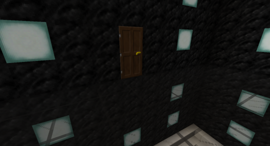 Doors are a great detail to add, but you cannot add the door right on the floor. It would have to sit on another door, and Minecraft won't allow that.