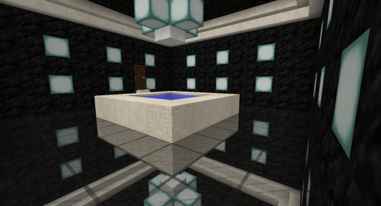 One more detail: a Sea Lantern chandelier.