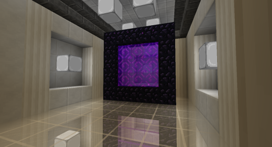 I used white stained glass here because of the white walls and ceiling.