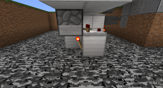 Here is the change, and we've already talked about it: turn a corner toward the piston extender under the second dropper, like this.