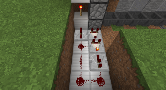 Again, make a comparator clock setup to activate the dropper chain and send any item received into it back up to the player who is now inside the secret room.