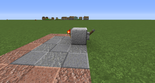 This block is your input block. The lever will eventually not be needed.