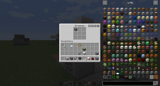 Place a single item in the dropper. It doesn't matter what the item is. I've used cobblestone.