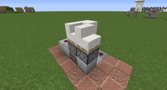The result of extending one more time is that the second stair block is now retracted two full blocks rather than just one.