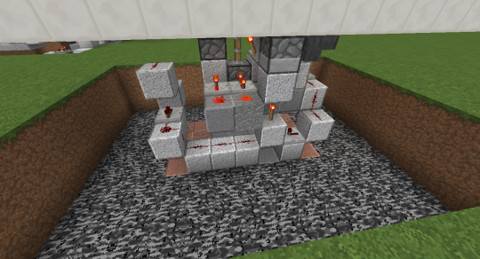 This is a picture of the whole redstone setup for today's project.