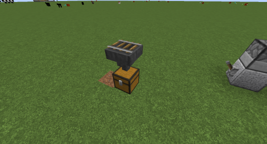 You can place a rail on top of a hopper. Any cart placed on this rail will drain its contents into the hopper.