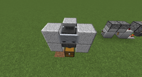 Place a hopper cart on the rail. I put blocks around the cart to keep it from drifting away.