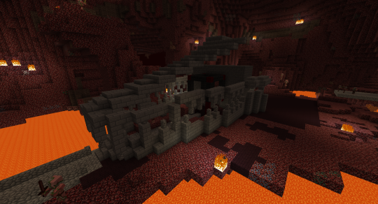 What better entrance could you have for an Evil Nether Castle than a petrified dragon skull?