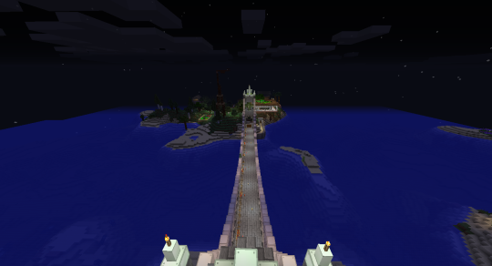 The view from the top of the middle tower looking toward my main base.