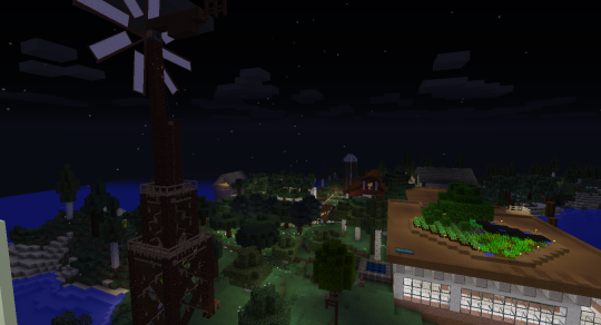 The view of the rest of my base from the top of the nearest tower.