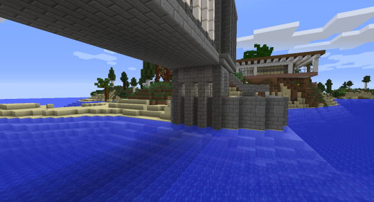 The coast wall will continue on the other side of the tower when I am finished.