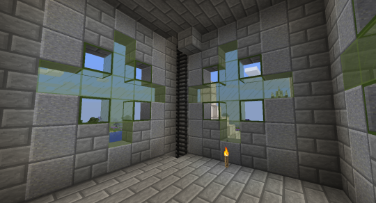 The middle room of the middle tower. I used green crosses for all four sides of the middle tower.