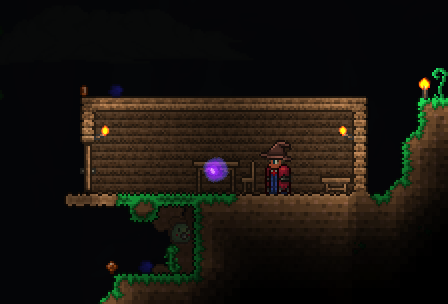 Everybody\u0027s first Terraria house. You probably would put a door on the right side too & Making a Single Front Door in Terraria | Mine build eat repeat ...