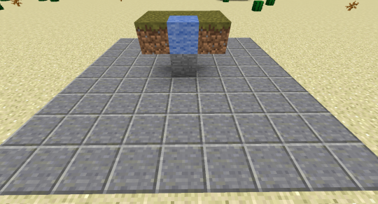 This shows the area directly under a 9x9 wheat farm (the blue wool represents the water at the center of the 9x9 farm).