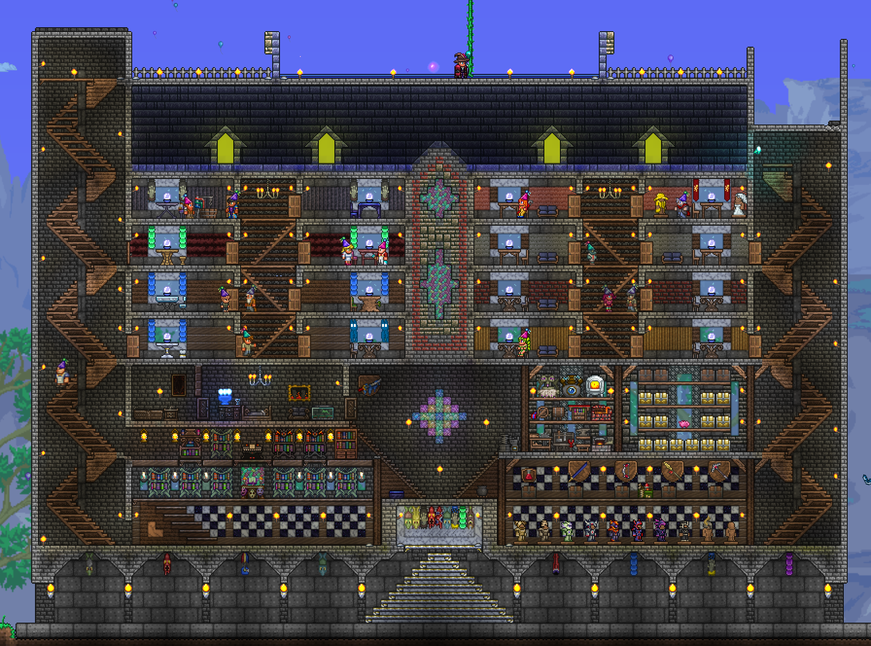Terraria Mansion Phase 1 Complete Mine Build Eat Repeat Companion slime puzzles are mainly done with pressure plates and levers to actuate blocks for the slime. terraria mansion phase 1 complete