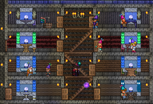 The west wing of apartments for my NPCs. There is also an east wing. I'll have to build more eventually, I think, but that's partially what the upper keep is intended for.