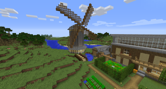 how to build a minecraft windmill