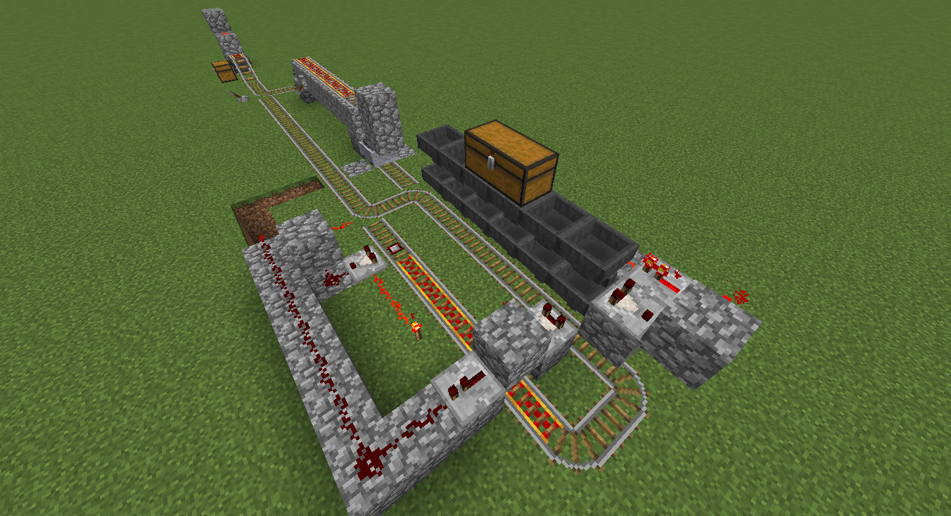 Simple Redstone Device Advanced Minecart Loading Mine Build Eat Minecraft How To Make An Instant Off Delayed On Circuit